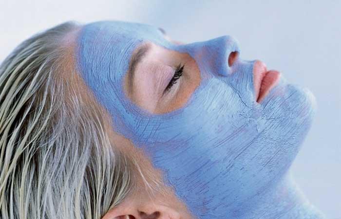 Голубая глина для кожи лица