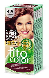 Стойкая крем-краска для волос цвета Махагон Fito Color